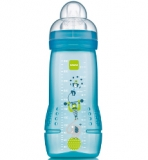 Lahvička MAM 4+  330ml BABY BOTTLE MONSTERS  modrá