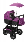Kombinovaný kočárek BabySafe Adventure black/purple 2016