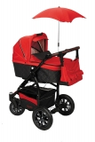 Kombinovaný kočárek BabySafe Adventure black/red  2016